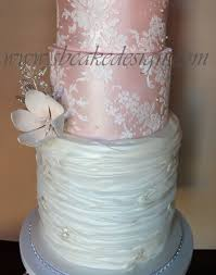 tulle and lace wedding cake cakecentral com