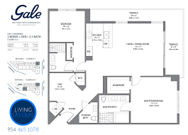 gale boutique condos floor plan 2 bedrrom den 2 5 bathroom