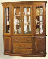 solid wood canted hutch