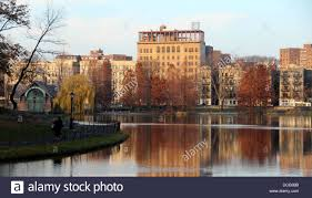 Pretty Colors Harlem Meer Pond Reflecting Pretty Colors In Late Autumn In Nyc