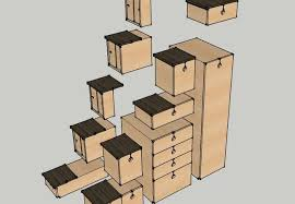 alternating tread stair design is also a japanese style storage