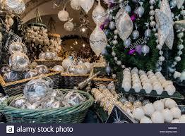 christmas decorations shop salzburg austria stock photo royalty