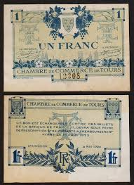chambre des commerces tours 1 franc 1920 rpm necessity ticket chamber of commerce ebay