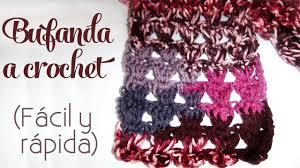 bufandas mis tejidos tejer en navidad manualidades navidenas bufanda cómo tejer bufanda a crochet fácil y rápida youtube