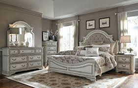 white furniture bedroom sets magnolia manor antique white upholstered panel bedroom set from