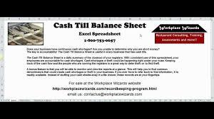 Drawer Balance Sheet Template Balance Sheet