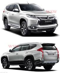 mitsubishi pajero sport 2017 black matte black head tail light lamp cover mitsubishi pajero montero
