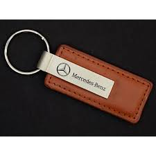 mercedes key rings for sale mercedes key ring leather rectangle brown chain r10