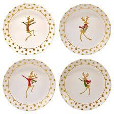 certified international gold reindeer ceramic dinner