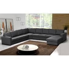 canapé d angle 9 places oara gris moderne achat vente canapé