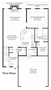 First Floor Master Bedroom Floor Plans by Ridgewood At Middlebury The Hickory Home Design