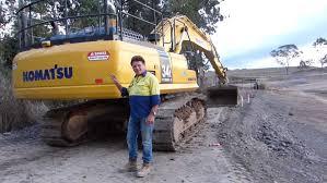 komatsu pc300lc 8 excavator video review youtube