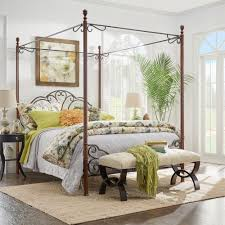 canopy bed headboards footboards bedroom furniture the bronze queen canopy bed