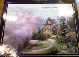 kinkade sweetheart cottage iii 3 oversized puzzle new