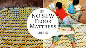 diy no sew floor mattress under 10 reallife realhome youtube
