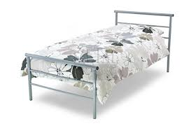 metal beds contract 3ft 90cm single silver metal bed frame by