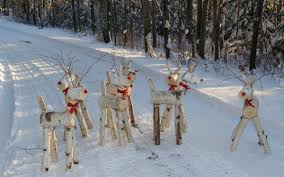 the deer herd made with the e z log tenon cutter out of birch