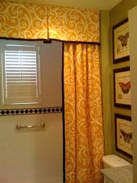 Double Shower Curtains With Valance 3 Piece Semi Sheer Window Curtain Set Botanical Design 2 Tiers 1