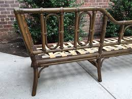 Vintage Bamboo Chairs Mcguire Furniture Vintage Rattan Bamboo Chaise Lounge Frame
