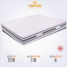 rivestimento materasso materasso ergonomico matrimoniale alto 22 cm lastra in memory