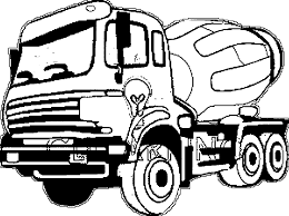 cement truck coloring pages wecoloringpage