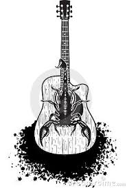 images acoustic guitar tattoo designs