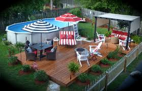Backyard Above Ground Pool by You Can Have A Nice Yard With An Above Ground Pool Pools