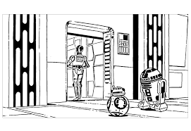 robots star wars r2d2 c3po bb8 movies coloring pages for