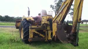massey ferguson mf50b backhoe demo 2 youtube