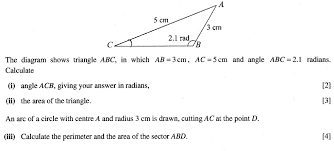 Area Formula by C2 Perimeter And Area Of A Sector The Student Room
