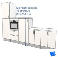kitchen cabinet top height kitchen cabinet dimensions