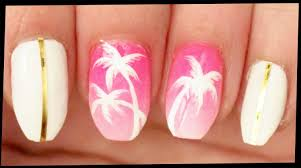 ombre nail design tumblr palm trees on pink ombre nail art youtube
