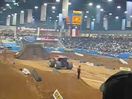 monster truck show amarillo texas monster truck first ever indoor flip youtube