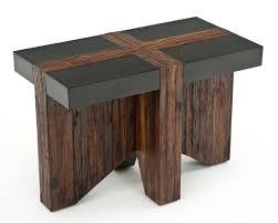 reclaimed wood end table reclaimed wood end table refined rustic nightstand