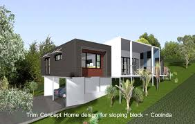 home plans for sloping lots amazing modern sloping house plans decoration with sofa set at