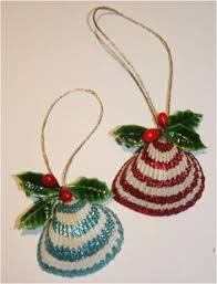 glittered seashell ornaments memories of our trip to
