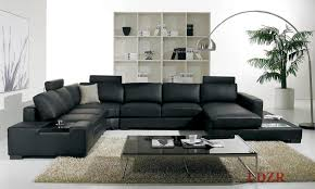 Sofa For Living Room Pictures Home And Living Lovely Living Room With Black Leather Sofa