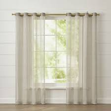 120 Inch Sheer White Curtains Curtain Panels And Window Coverings Crate And Barrel