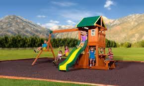 Backyard Discovery Weston Cedar Wooden Swing Set Backyard Discovery Weston Cedar Swing Set