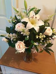 artificial flower arrangements large artificial flower vase arrangement blush bay