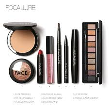 Makeup Set focallure 8pcs cosmetics makeup set powder eye makeup eyebrow pencil