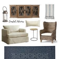 Coastal Livingroom Neutral And Navy Living Room Edesign U2014 Coastal Collective Co