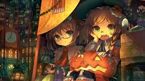 anime halloween download 2560x1440 touhou halloween wallpaper