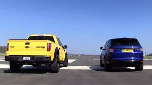Ford Raptor Top Gear - supercharged showdown hennessey velociraptor vs range rover sport