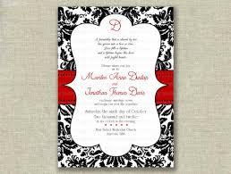 Red And Black Wedding Red And Black Wedding Invitations Plumegiant Com