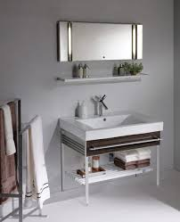 stainless steel wall mount bathroom cabinet with shelf storage