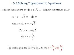 5 3 solving trigonometric equations ppt trig worksheet