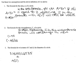 Area Formula by Area And Circumference 3 This Task Is The Third In A Series Of