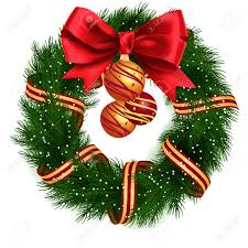 christmas wreath isolated royalty free cliparts vectors and