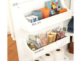 storage bins bathroom countertop storage containers vanity bin
